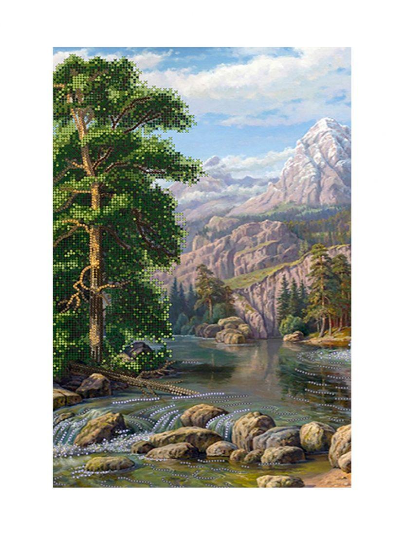 """Схема для вышивания бисером """"Лесной водопад"""""""