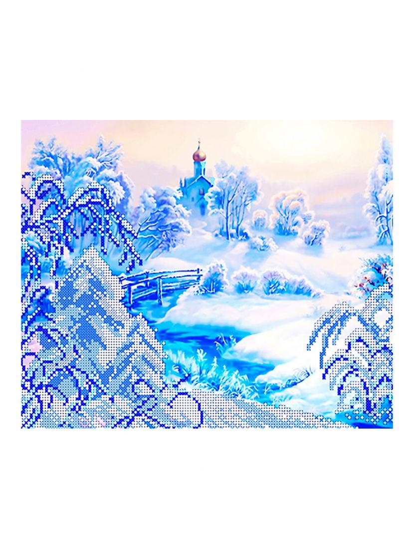 """Схема для вышивания бисером """"Зима"""""""