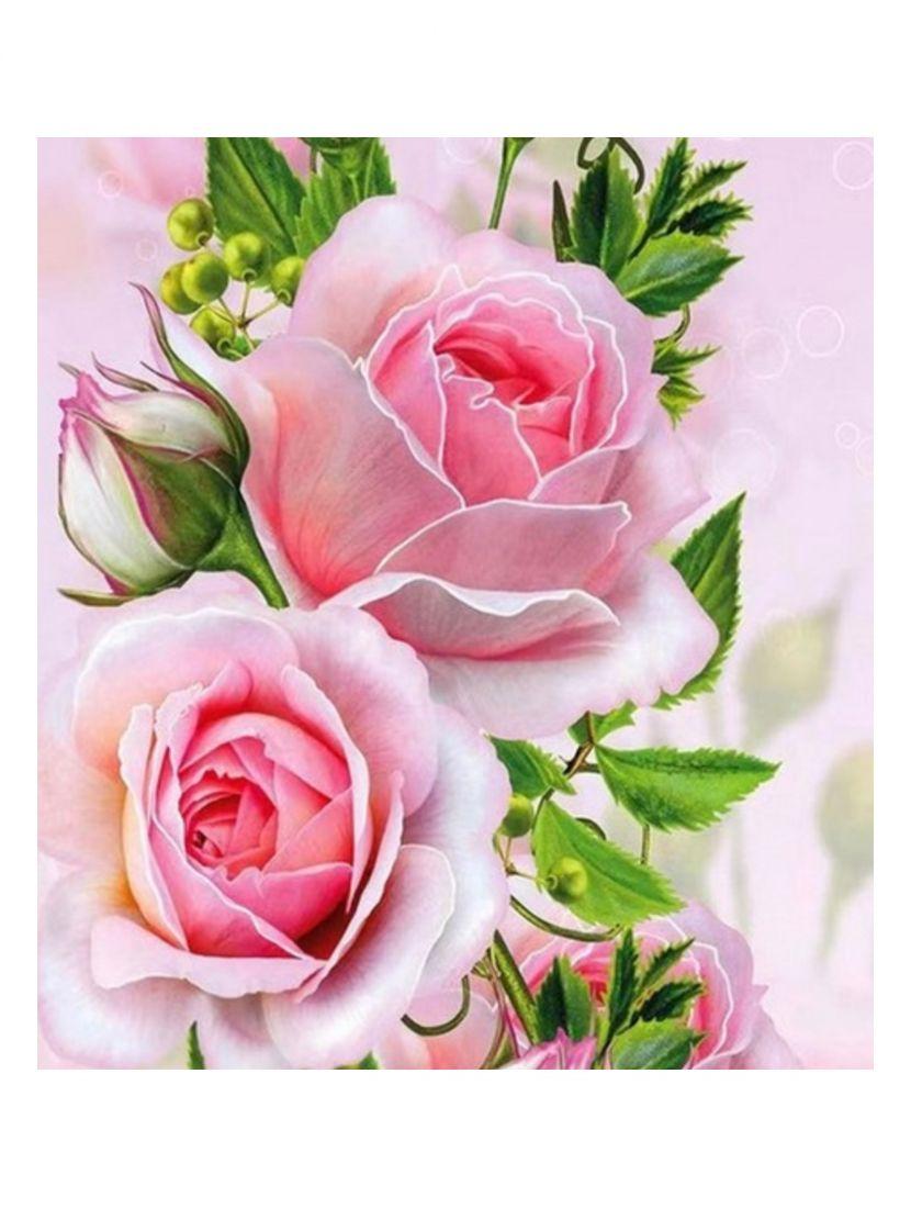 """Алмазная мозаика """"Нежные розы"""""""