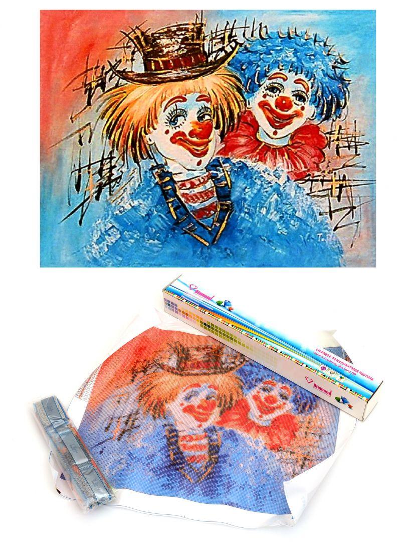 Алмазная мозаика «Цирк и клоуны»