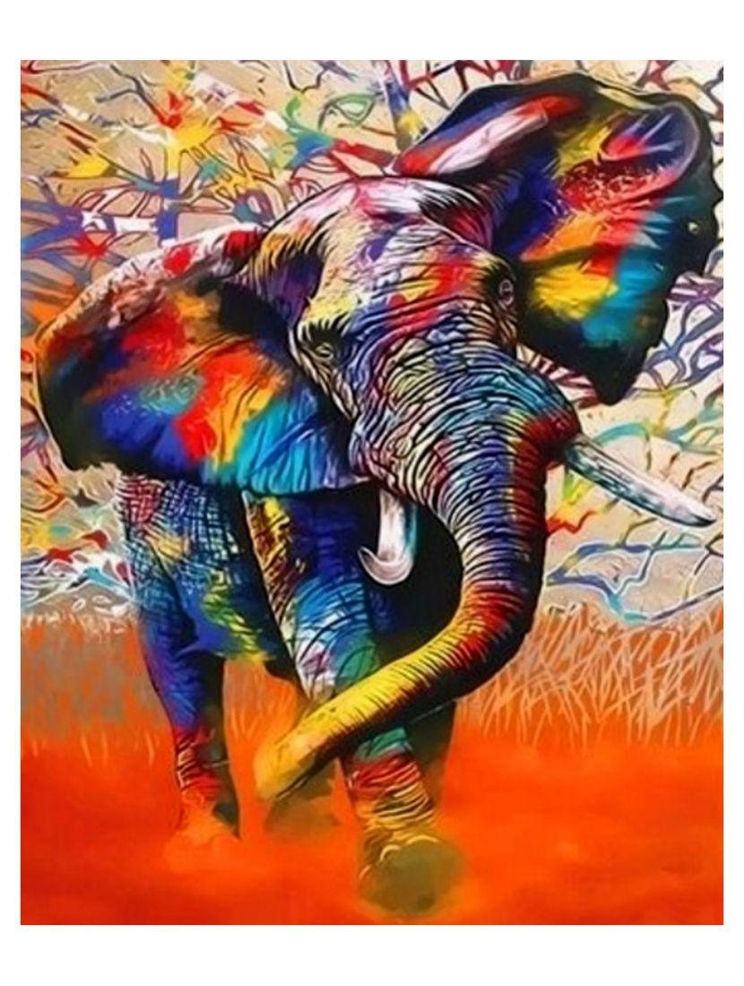 """Алмазная мозаика """"Слон в красках"""""""