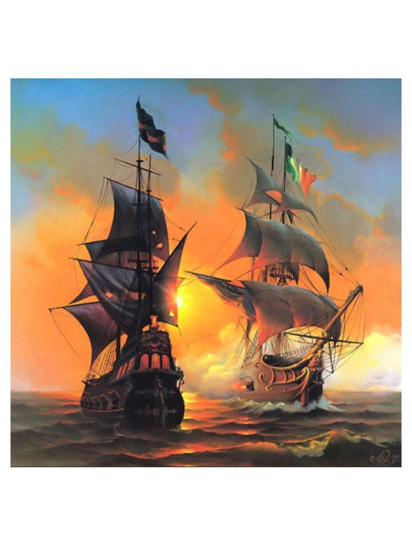 Алмазная мозаика «Морской бой»