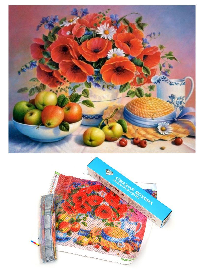 """Алмазная мозаика """"Цветы с фруктами"""""""