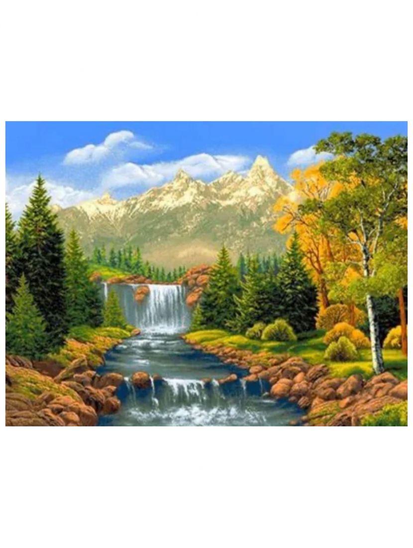 Алмазная мозаика «Лесной водопад»