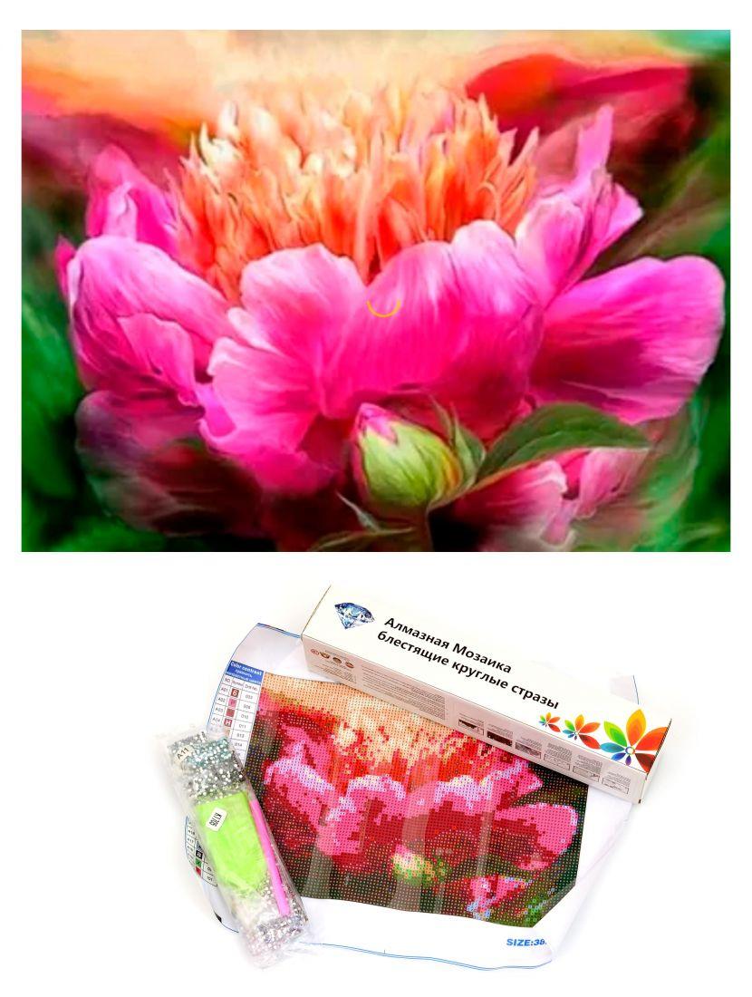 """Алмазная мозаика """"Розовый цветок"""""""
