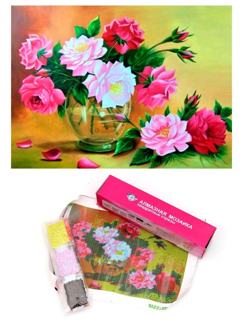 Алмазная мозаика «Букет цветов в вазе»