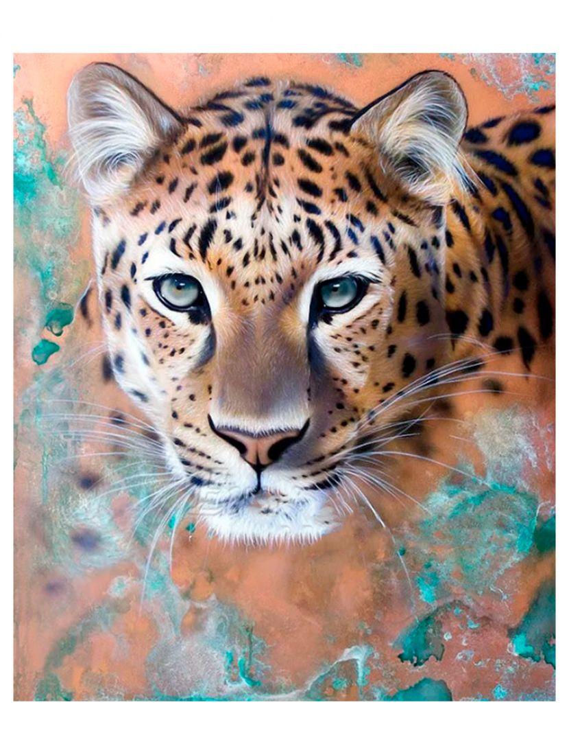 """Алмазная мозаика """"Леопард"""""""