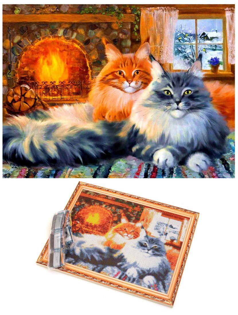 """Алмазная мозаика на подрамнике """"Милые коты"""""""