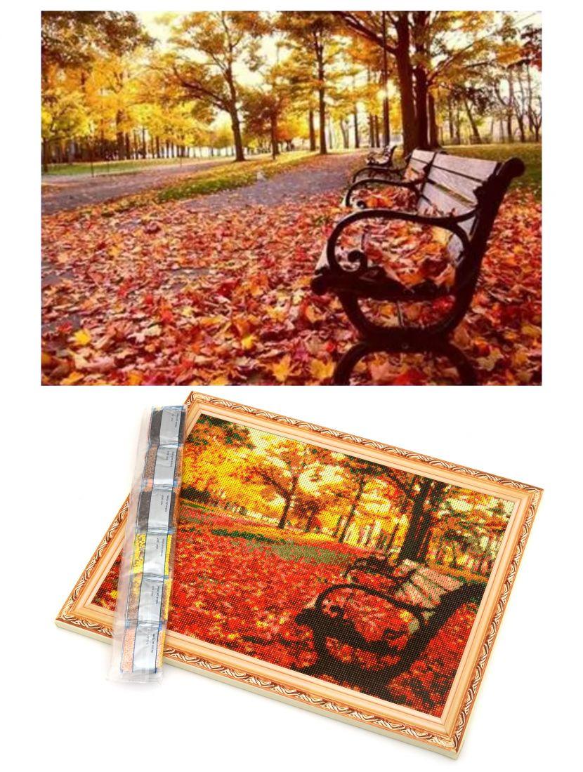 """Алмазная мозаика на подрамнике """"Осенний парк"""""""