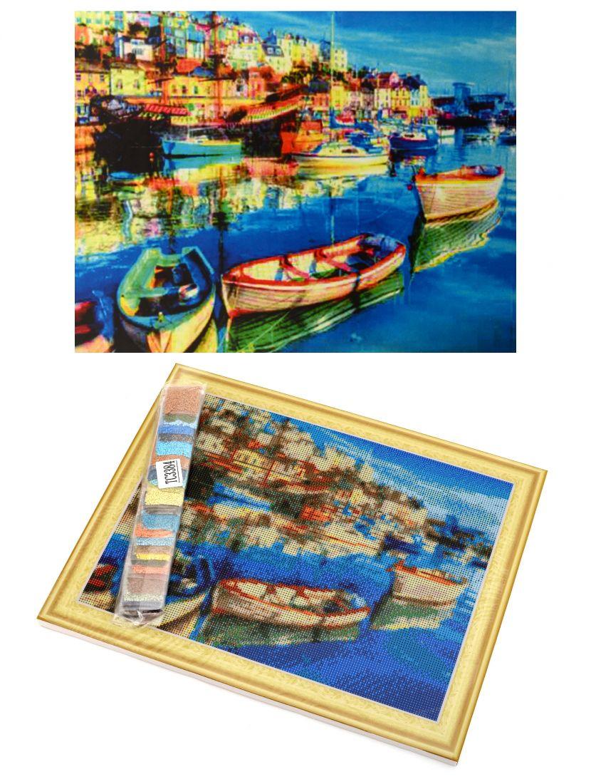 Алмазная мозаика на подрамнике «Италия»