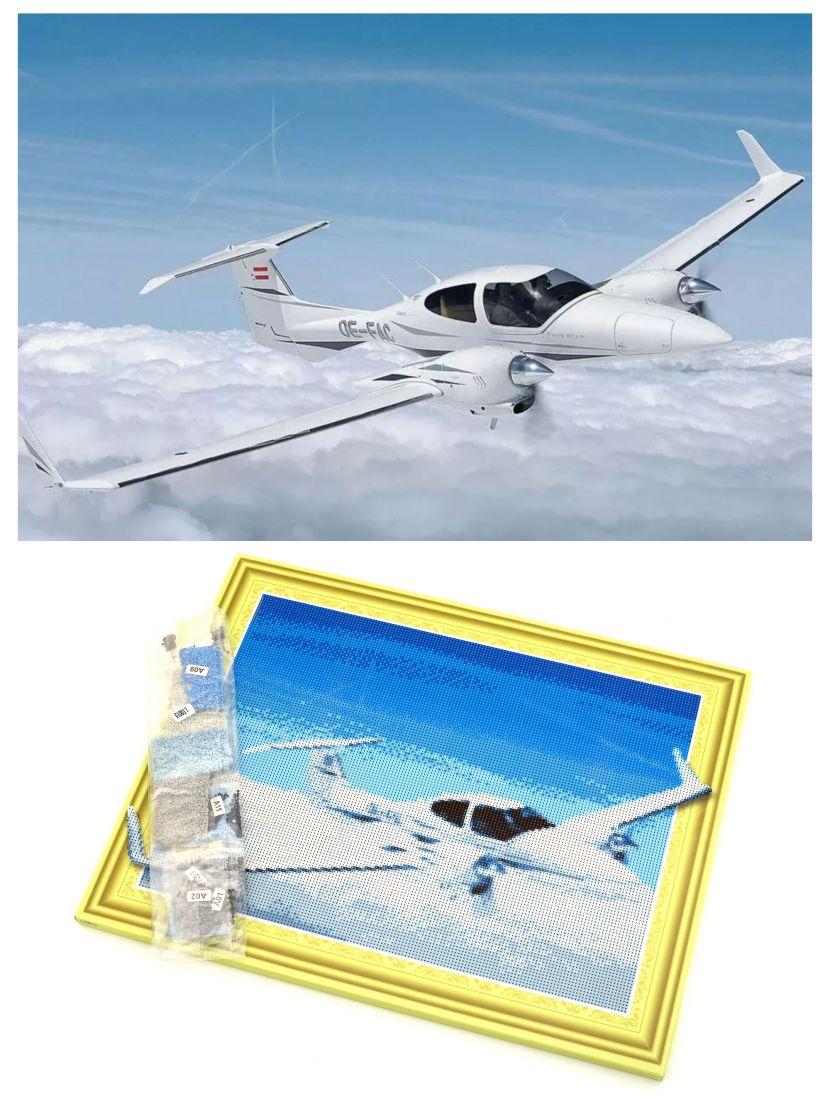 """Алмазная мозаика на подрамнике """"Легкий самолет"""""""