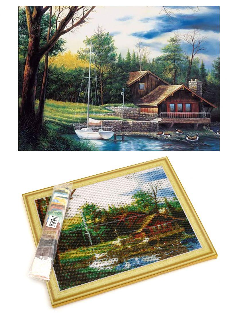 "Алмазная мозаика на подрамнике ""Яхта"""