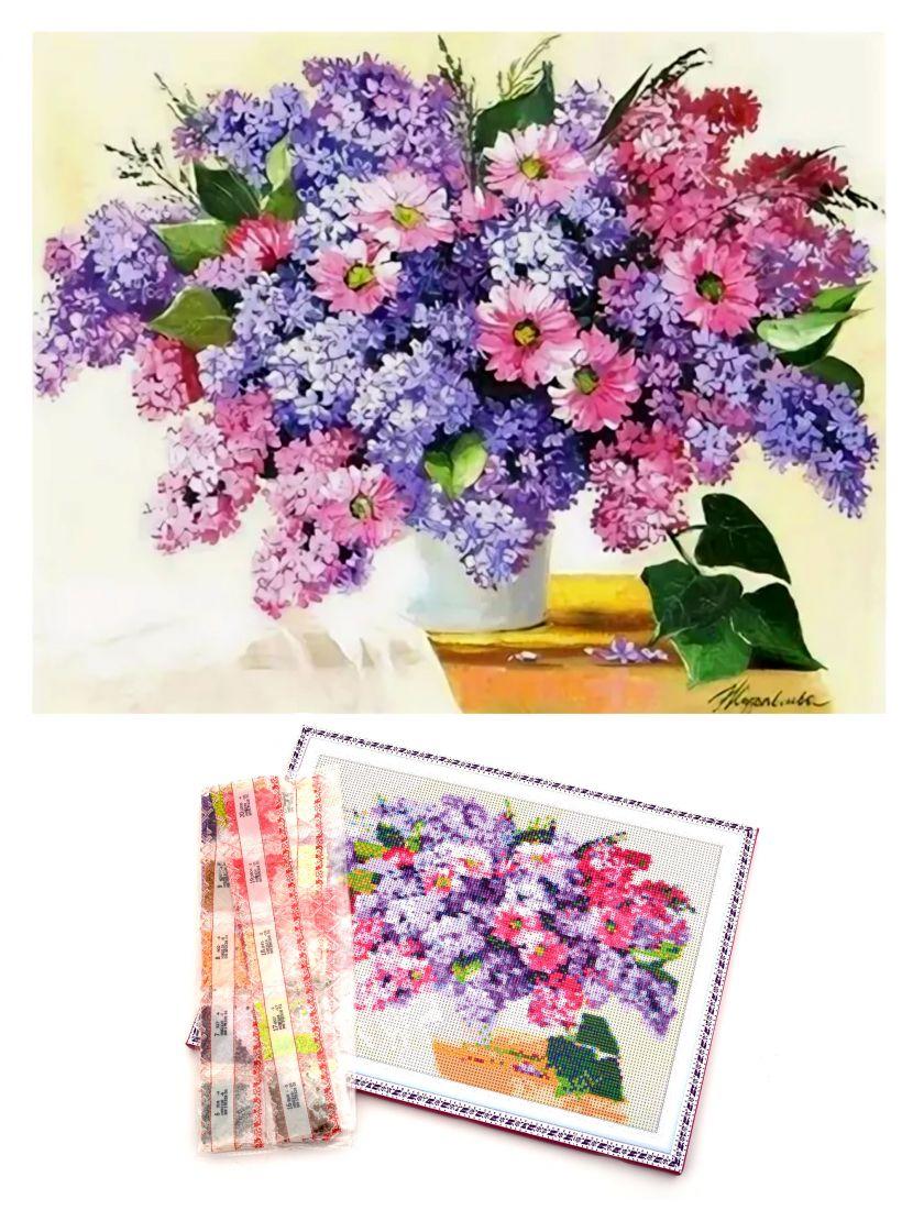 """Алмазная мозаика на подрамнике """"Цветы"""""""