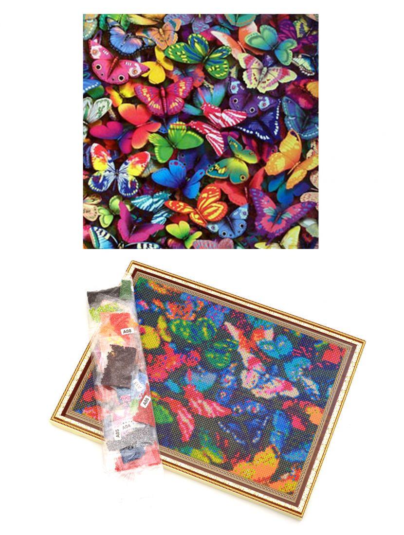 """Алмазная мозаика на подрамнике """"Бабочки"""""""
