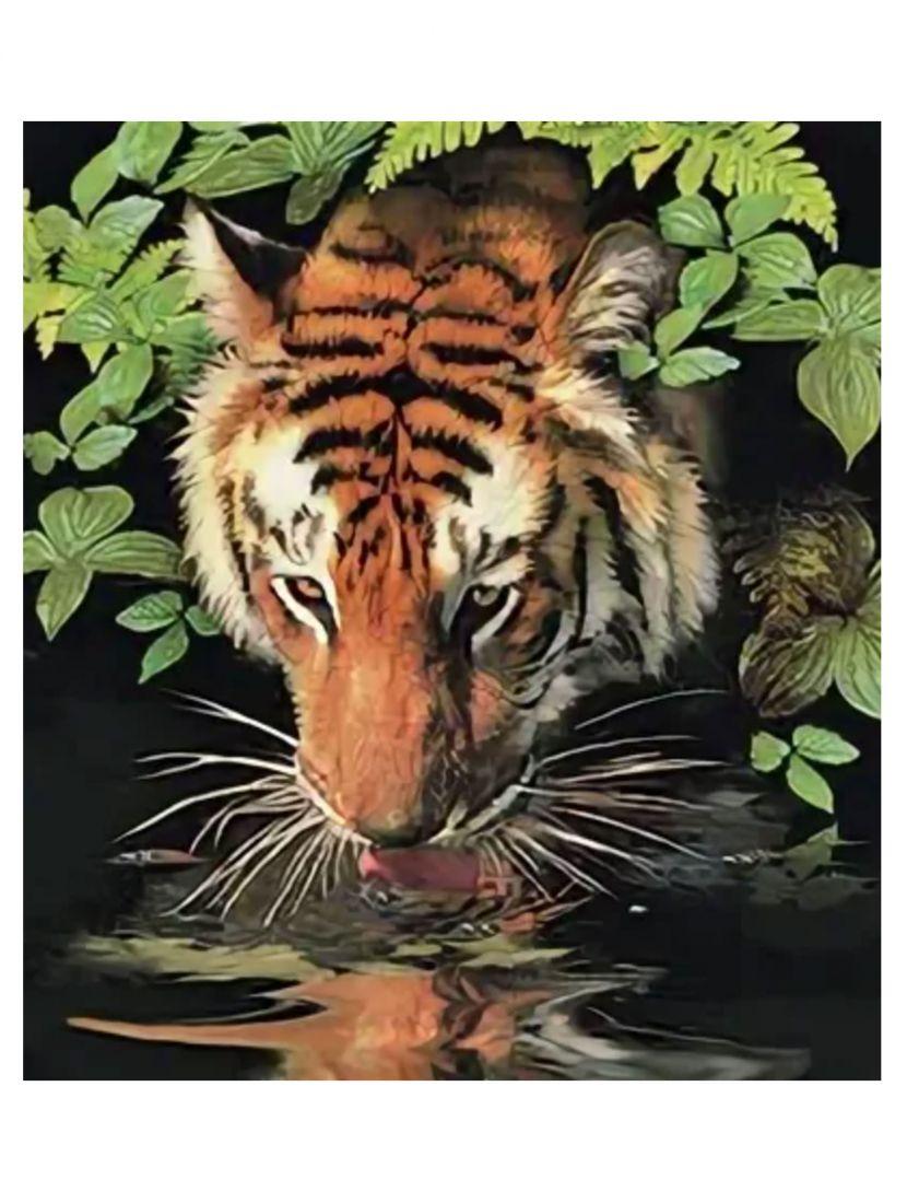 """Алмазная мозаика на подрамнике """"Тигр"""""""