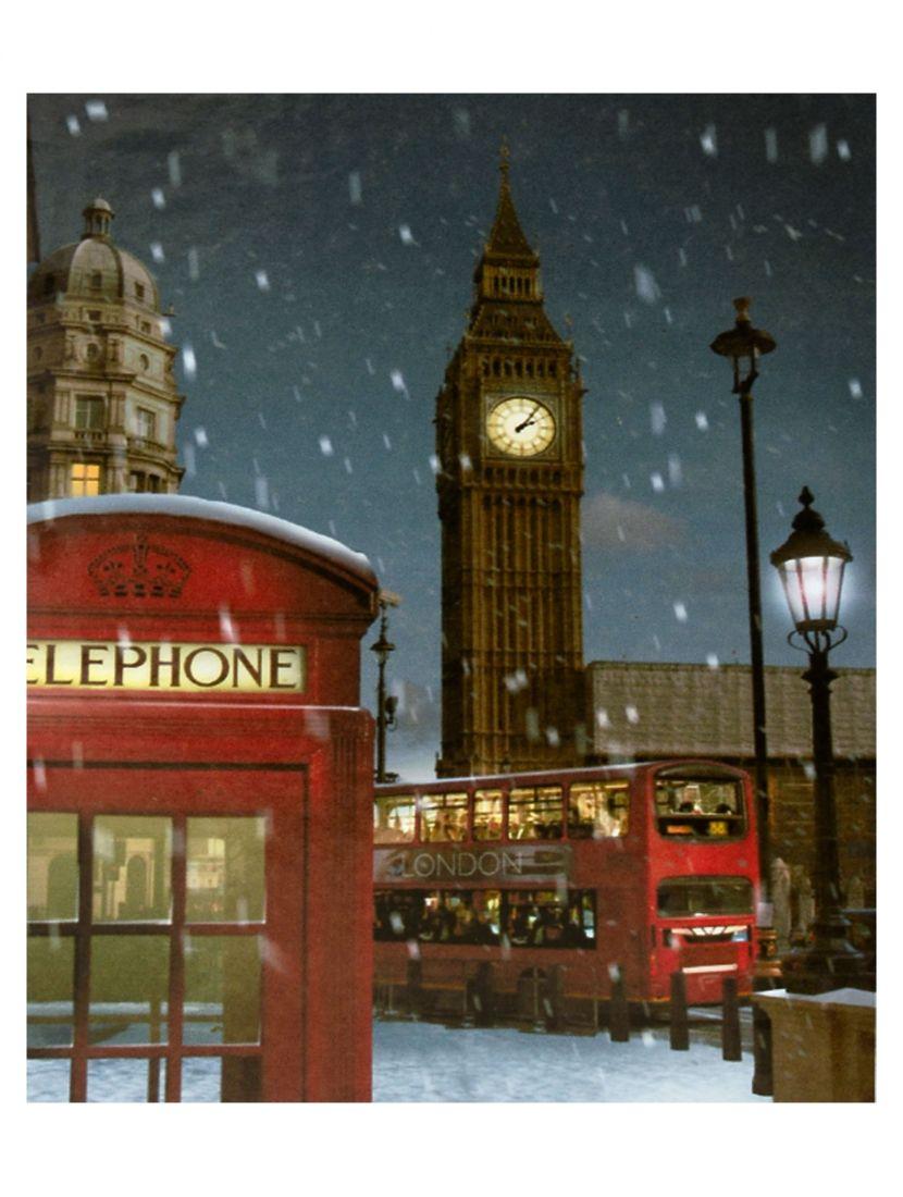 """Картина по номерам  на подрамнике """"Лондонская зима"""""""