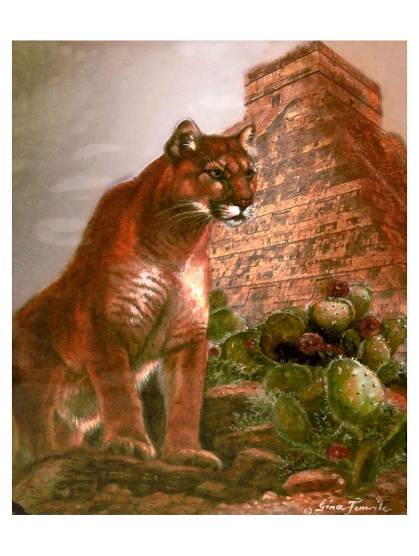 """Картина по номерам  на подрамнике """"Горный лев и пирамида"""""""
