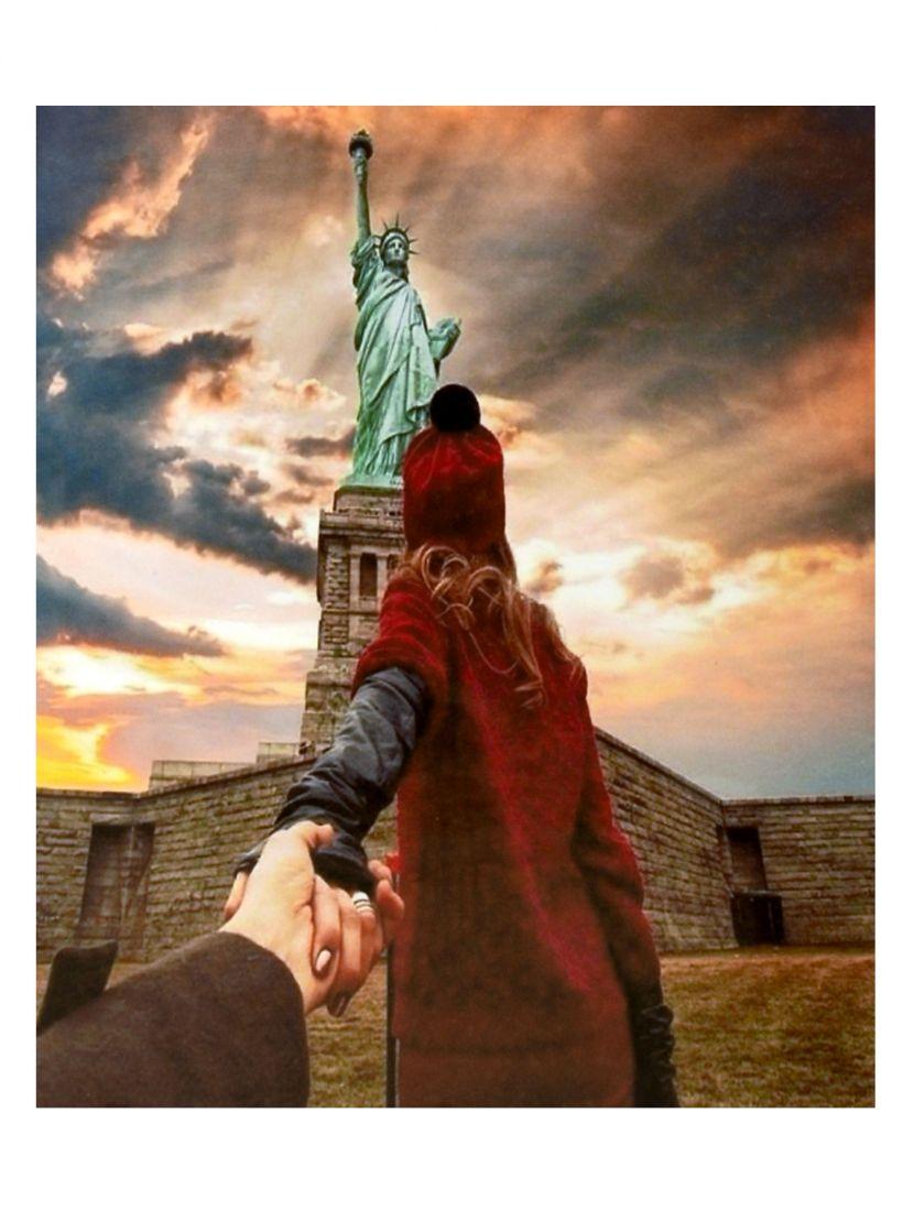 Картина по номерам на подрамнике «Статуя Свободы»
