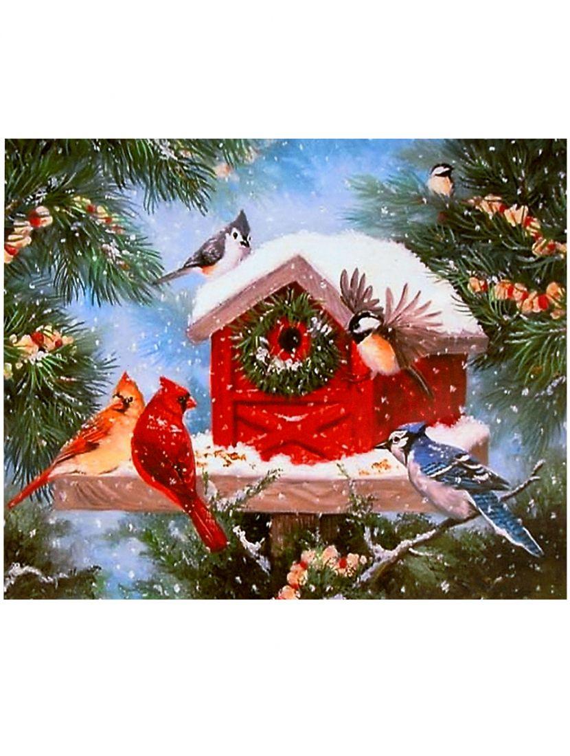 """Картина по номерам  на подрамнике """"Птичий праздник"""""""
