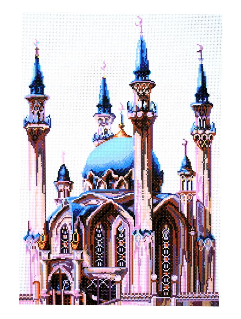 """Схема для вышивания бисером или мулине """"Мечеть Кул- Шариф"""""""