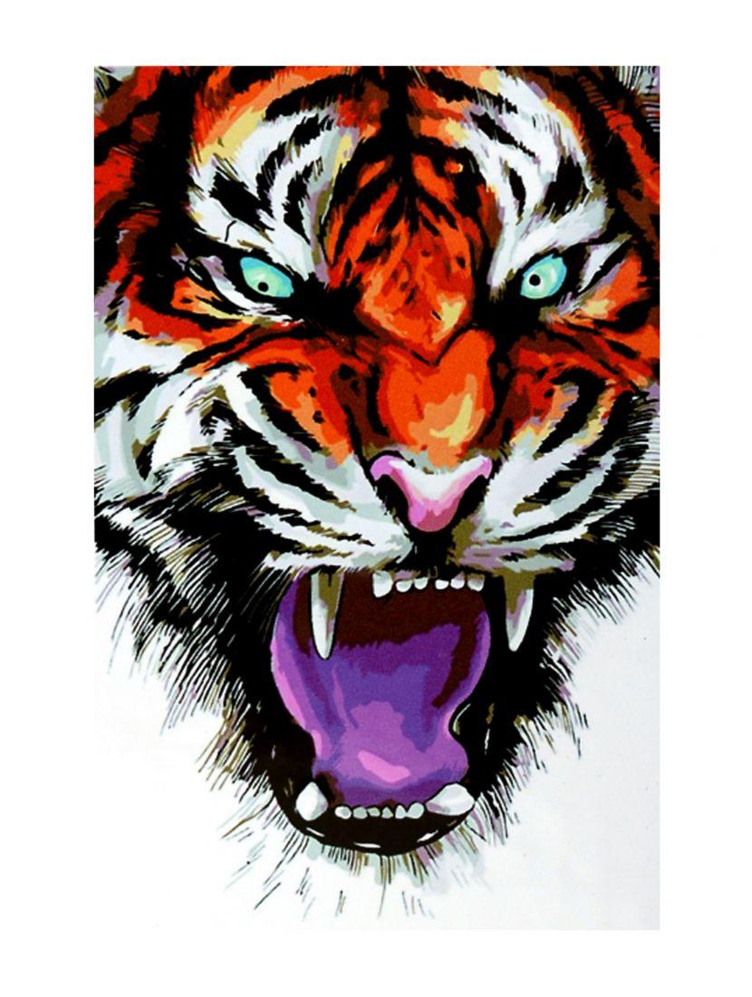 """Картина по номерам  на подрамнике """"Яростный зверь"""""""