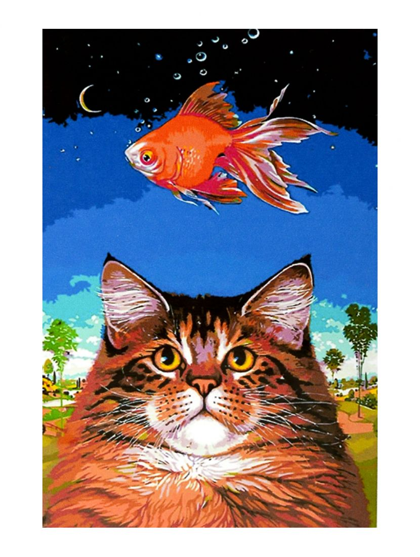"Картина по номерам  на подрамнике ""Кошачьи мечты"""
