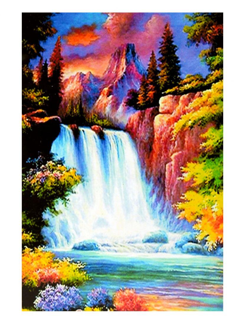 """Картина по номерам  на подрамнике """"Цветущие горы"""""""
