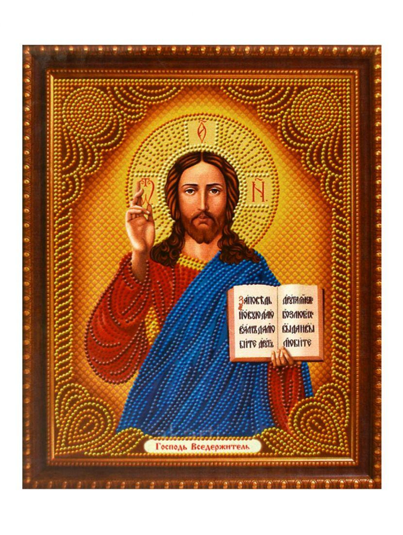 """Алмазная мозаика на подрамнике """"Господь Вседержитель"""" икона"""