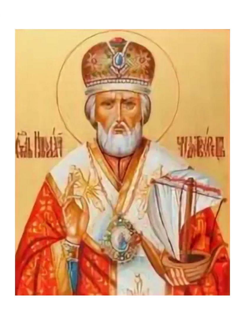 Алмазная мозаика «Николай Чудотворец» икона