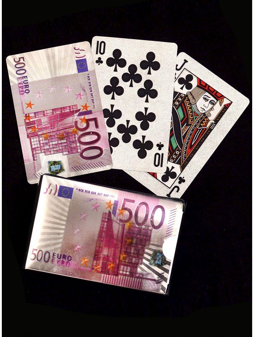 Карты игральные «500 Euro silver»