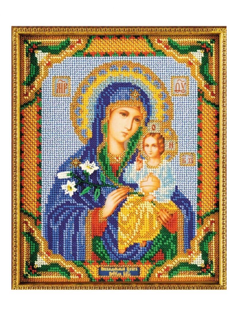 Алмазная мозаика «Божией матери Неувядаемый цвет» икона