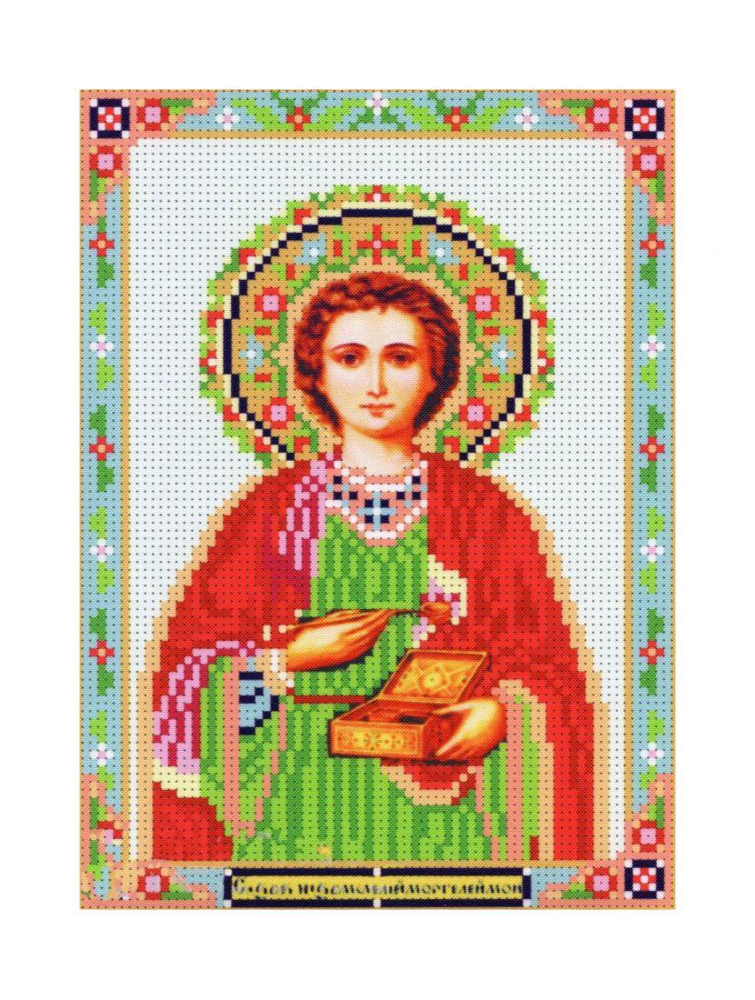 """Алмазная мозаика """"Святой Пантелеймон"""" икона"""