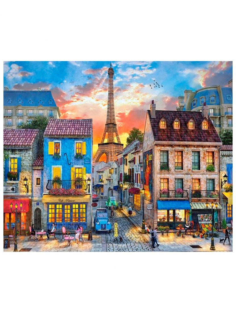 """Алмазная мозаика на подрамнике """"Гармония в городе Париж"""""""