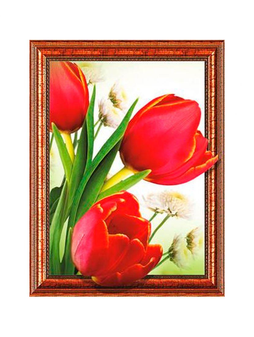 """Алмазная мозаика на подрамнике """"Цветущие тюльпаны"""""""