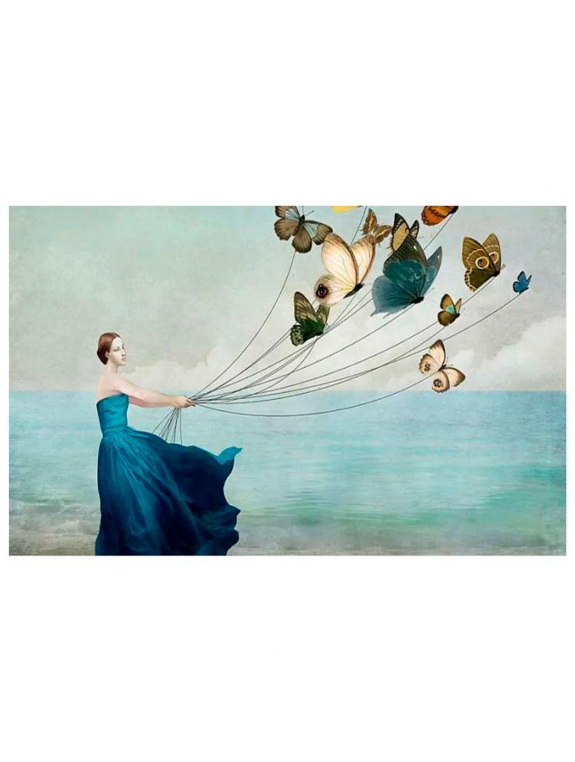 """Алмазная мозаика на подрамнике """"Она верила в крылья"""" Christian Schloe"""