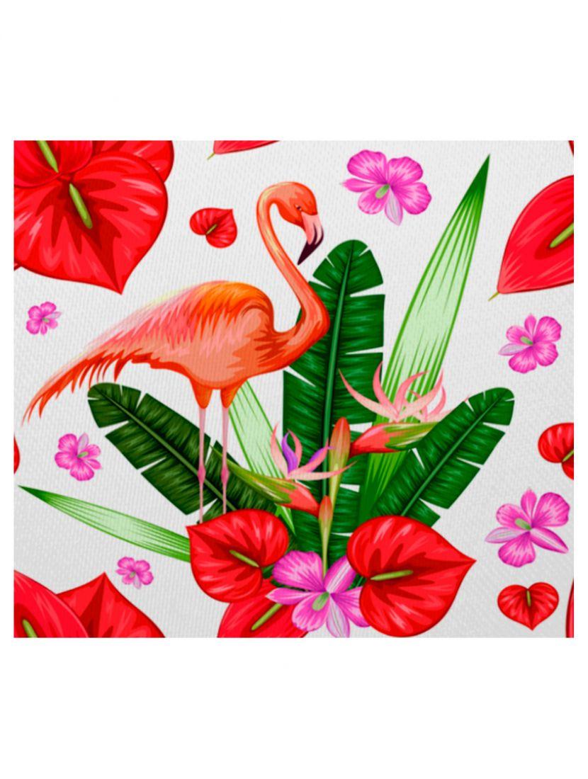 """Алмазная мозаика на подрамнике """"Цветочный фламинго"""""""
