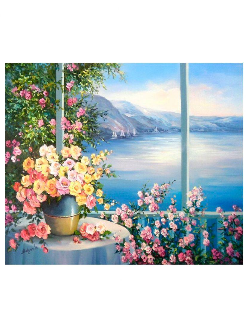 "Картина по номерам  на подрамнике ""Райский сад"""
