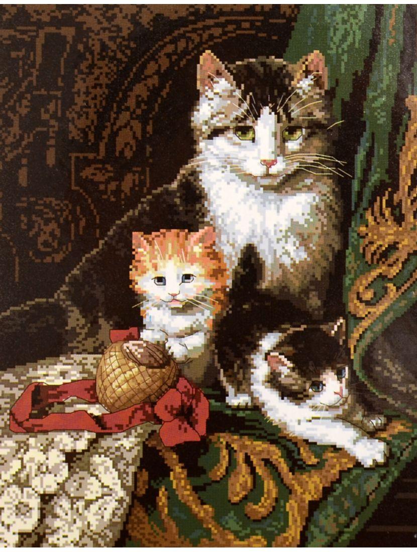 """Набор для вышивания крестом """"Кошки"""""""
