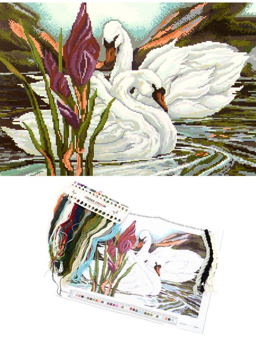 """Набор для вышивания крестом """"Лебеди"""""""