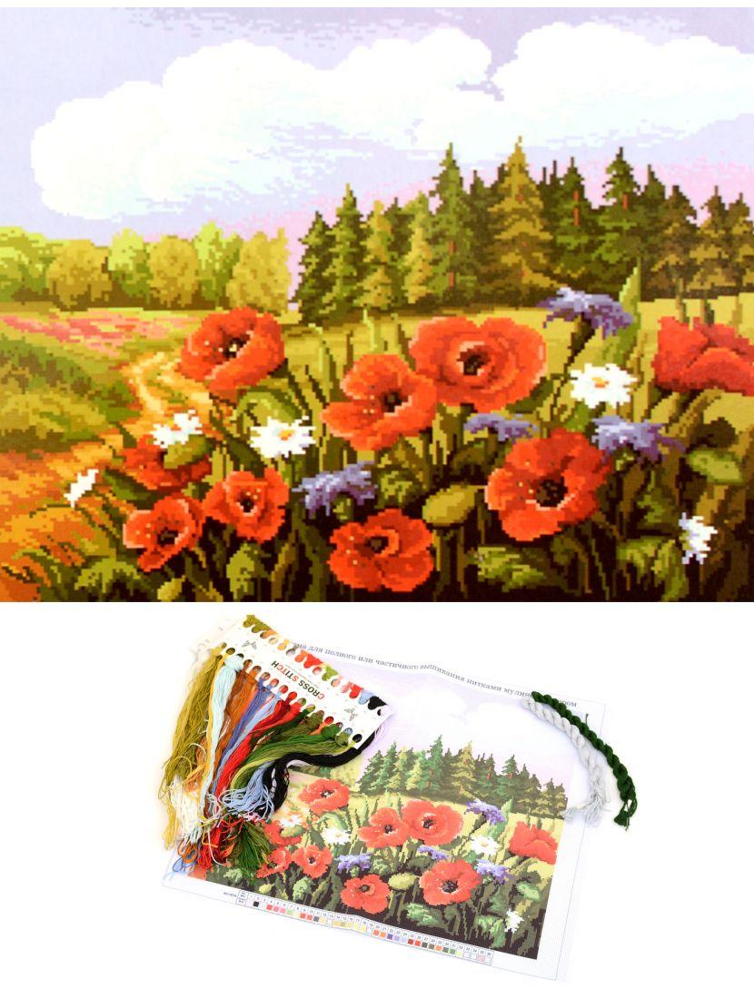 """Набор для вышивания крестом """"Поле с цветами"""""""