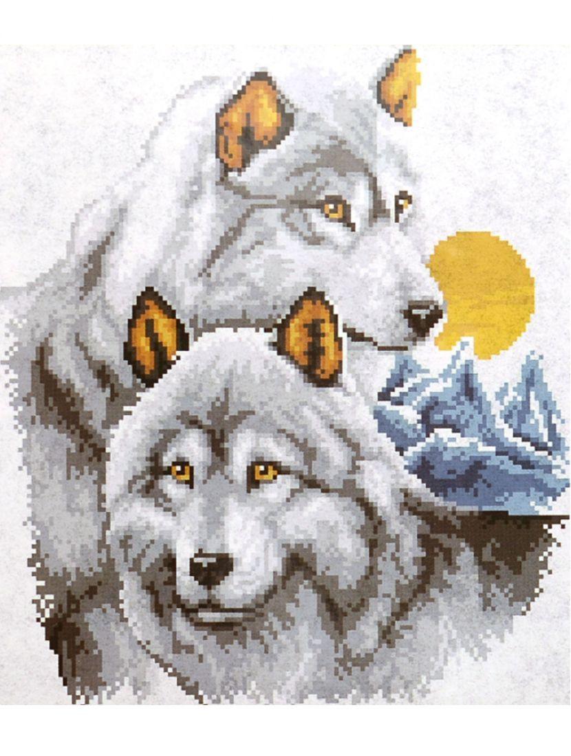"""Набор для вышивания крестом """"Волки"""""""