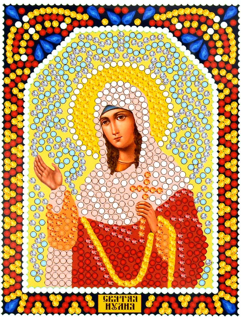 Алмазная мозаика «Святая Юлия» икона