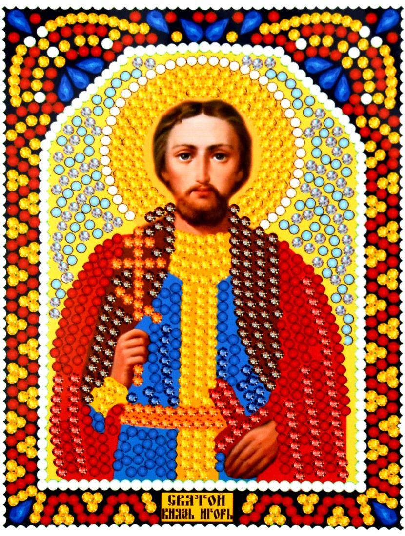 Алмазная мозаика «Святой Игорь» икона
