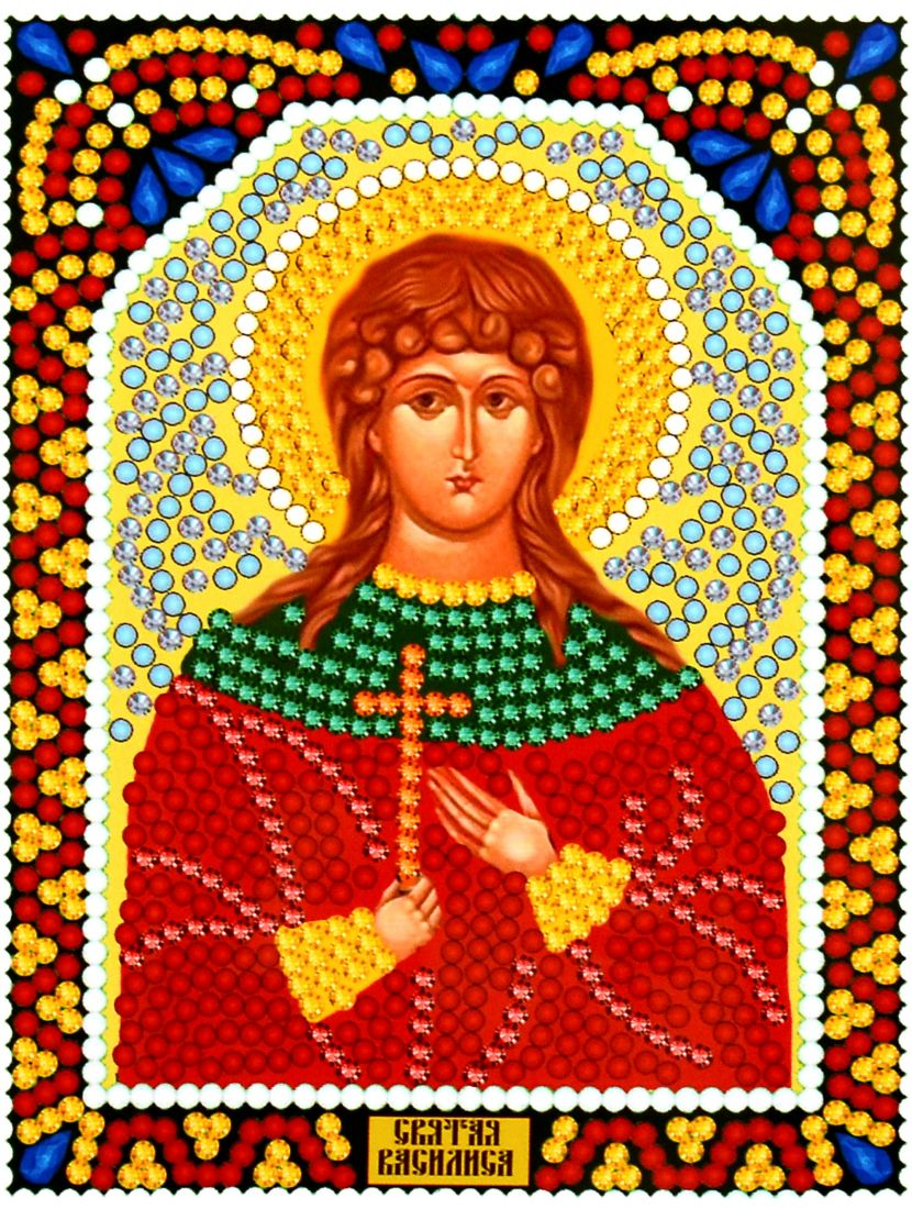 Алмазная мозаика «Святая Василиса» икона