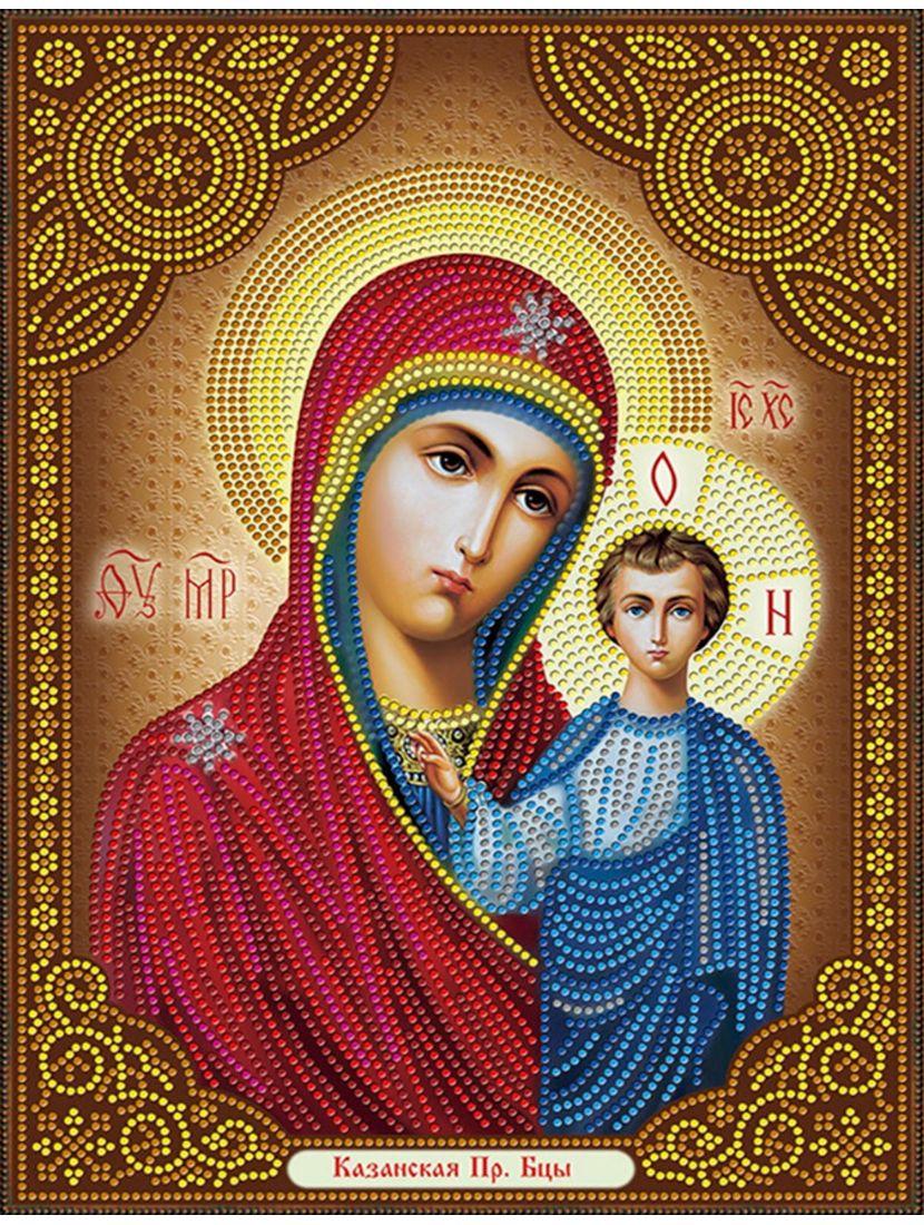 """Алмазная мозаика на подрамнике """"Божией Матери, Смоленская"""" икона"""