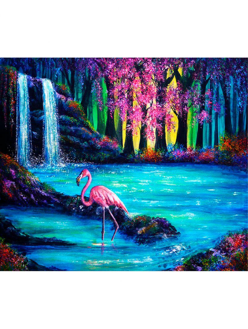 """Алмазная мозаика на подрамнике """"Фламинго маслом"""""""