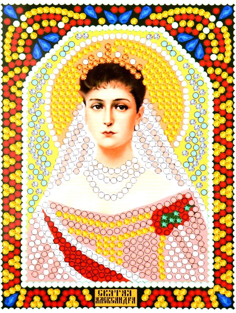 """Алмазная мозаика """"Святая Александра"""" икона"""