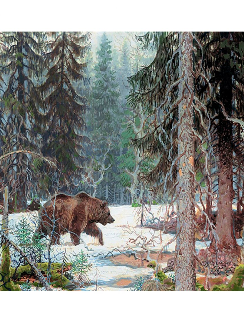"""Алмазная мозаика """"Медведь в тайге"""""""