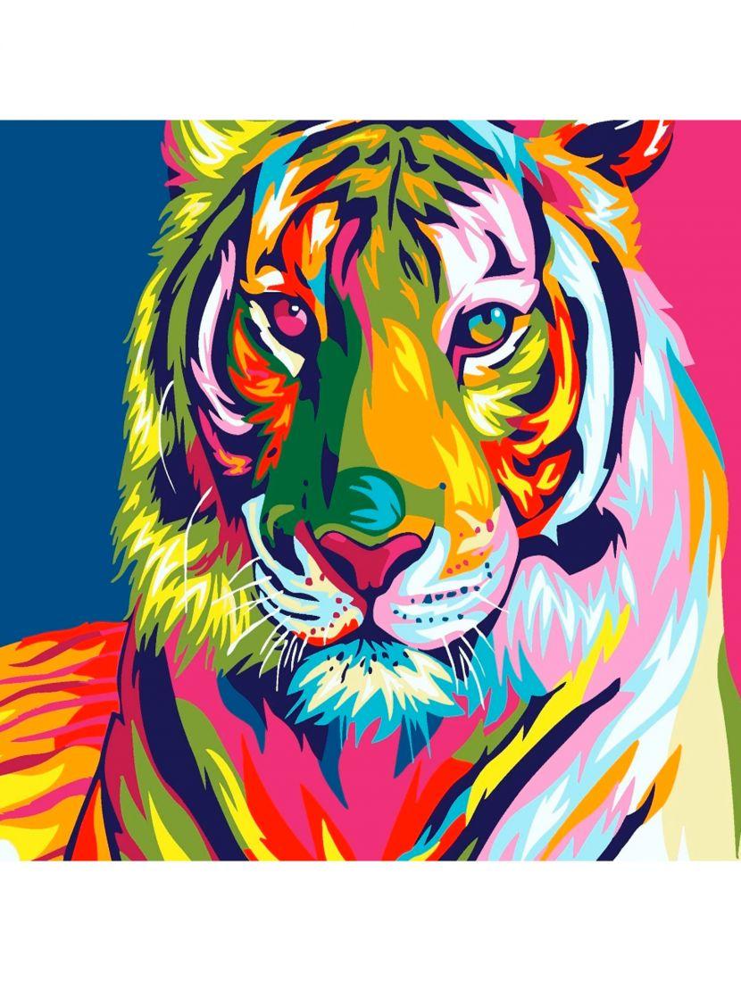 """Алмазная мозаика """"Радужный тигр"""""""