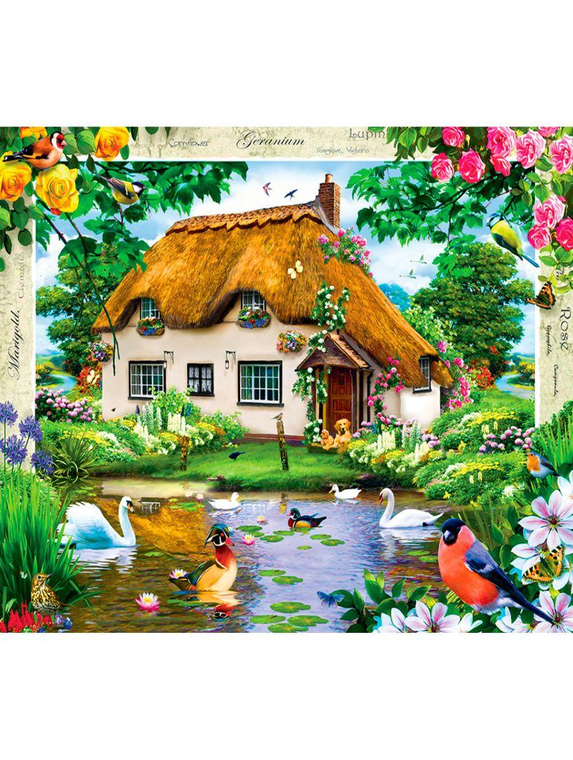 Алмазная мозаика «Домик с птицами»
